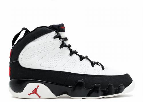 Air Jordan 9 Retro White Black Red