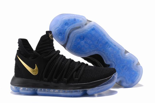 Nike KD 10 Shoes Black Gold
