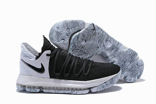 Nike KD 10 Shoes Black White