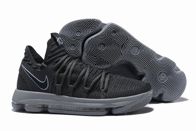 Nike KD 10 Shoes Charcoal Grey