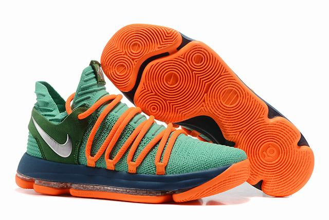 Nike KD 10 Shoes Grass Green Orange