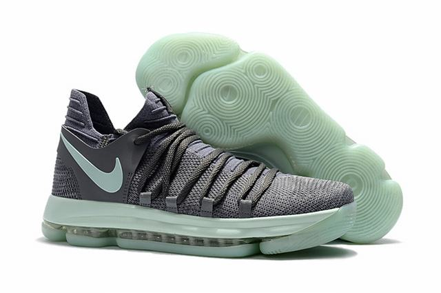 Nike KD 10 Shoes Grey Green