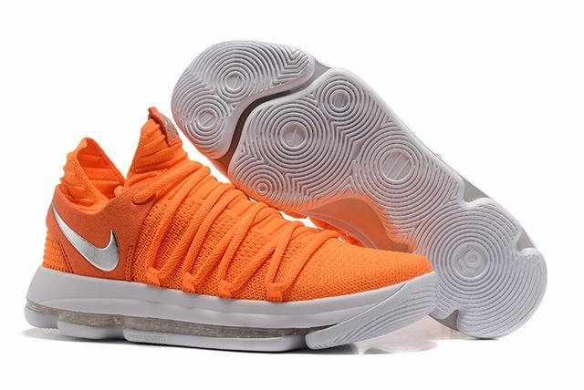 Nike KD 10 Shoes Orange White