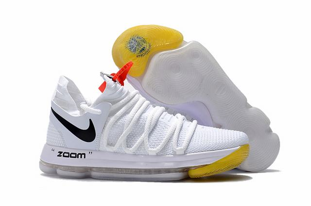 Nike KD 10 Union Shoes White Black