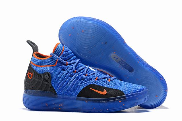 Nike KD 11 Shoes Blue Black Orange