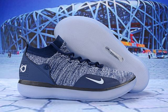 Nike KD 11 Shoes Dark Blue White