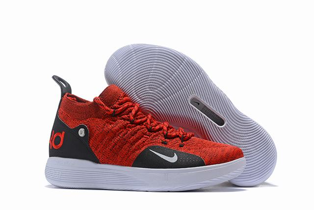 Nike KD 11 Shoes Red Black White