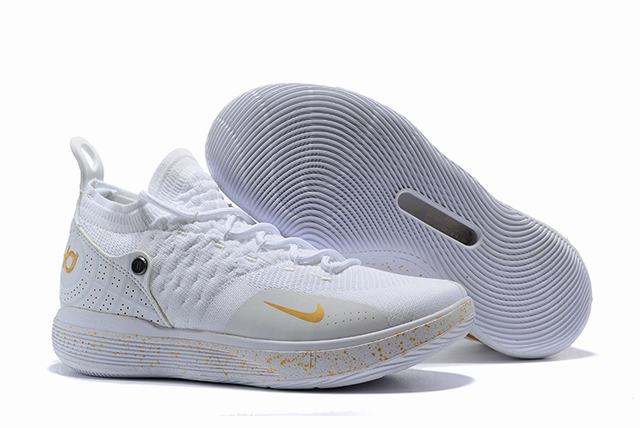 Nike KD 11 Shoes White Gold