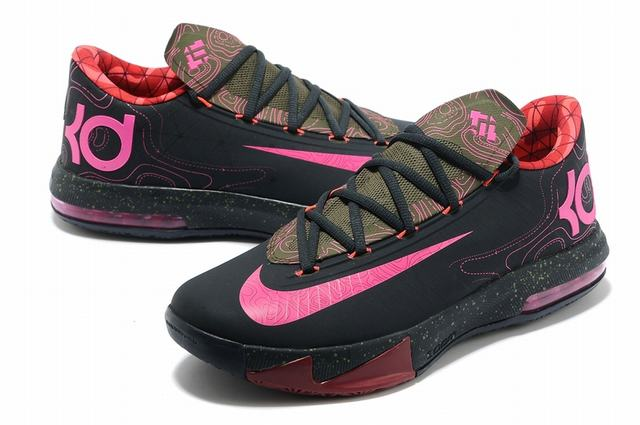 Nike KD 6 Shoes Black Red