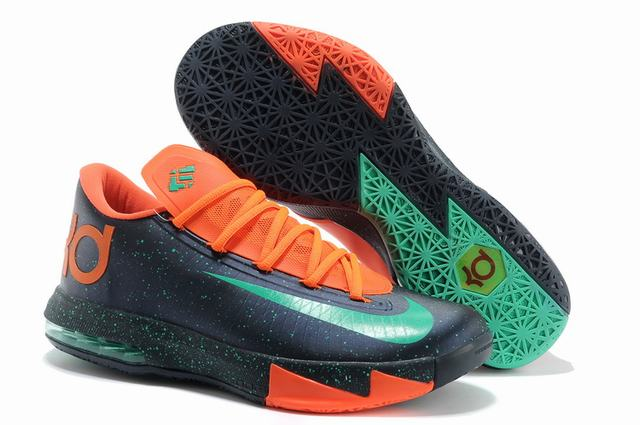 Nike KD 6 Shoes Dark Blue Orange