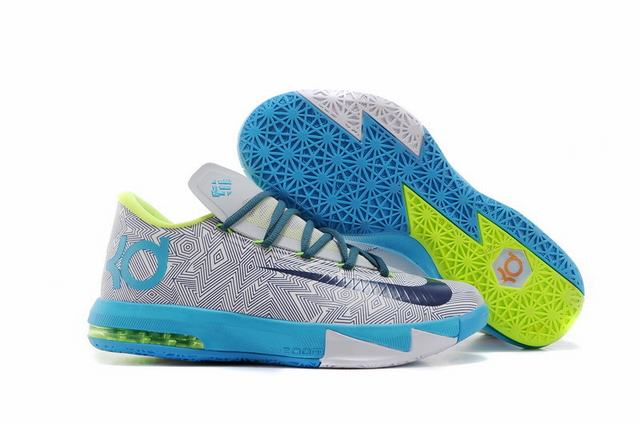 Nike KD 6 Shoes Grey Sky Blue