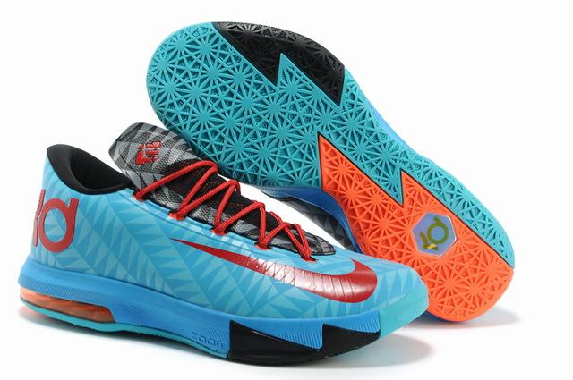 Nike KD 6 Shoes Light Blue Black