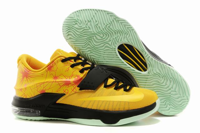 Nike KD 7 Air Cushion Shoes Yellow Black