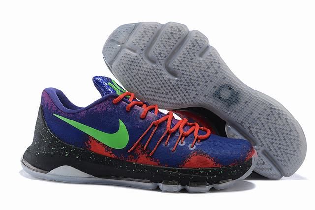 Nike KD 8 Shoes Low Purple Blue Green