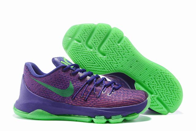 Nike KD 8 Shoes Low Purple Green
