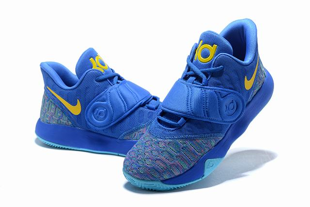 Nike KD Trey 5 VI Weave Shoes Royal Blue Yellow