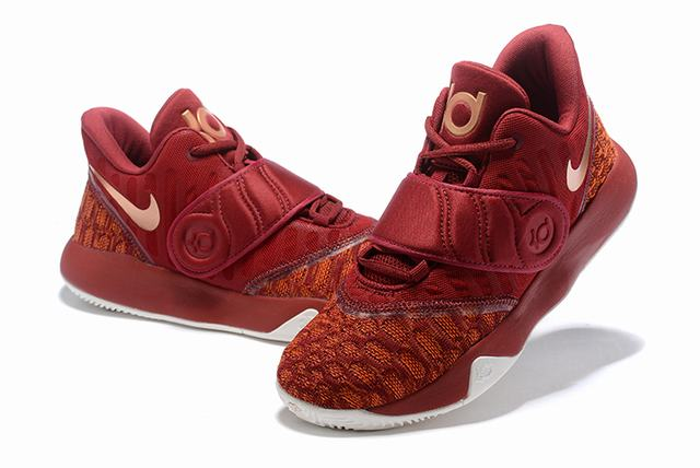 Nike KD Trey 5 VI Weave Shoes Wine Red White