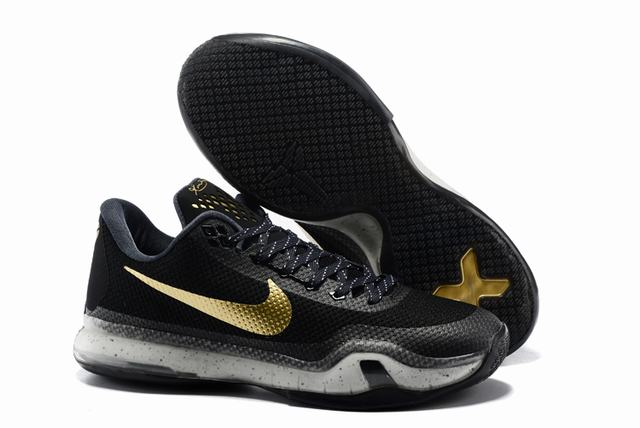Kobe 10 Shoes Low Black Gold