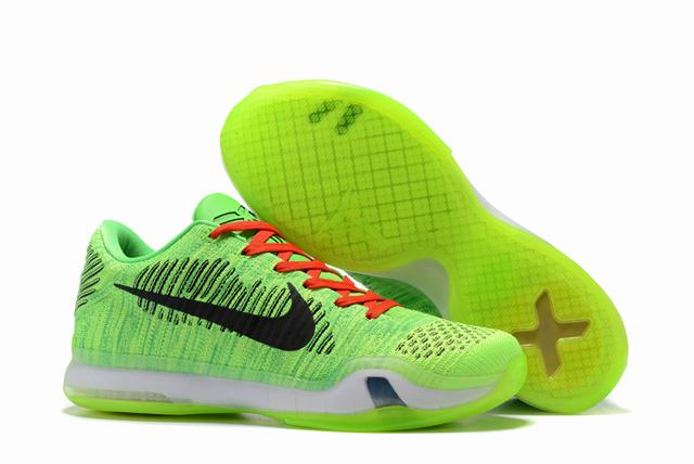Kobe 10 Shoes Low Green Black
