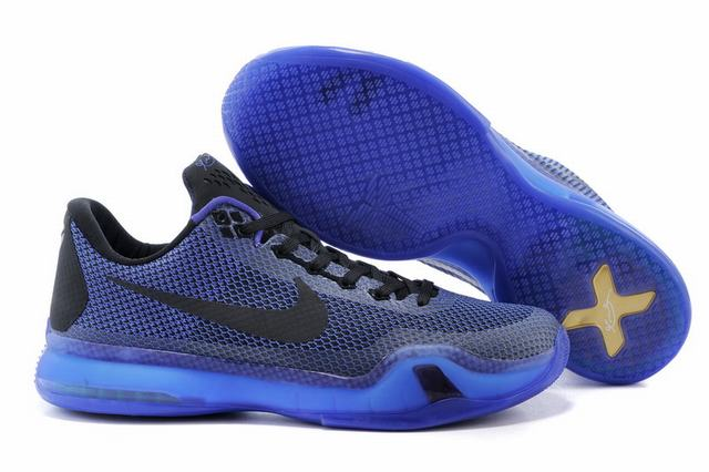 Kobe 10 Shoes Low Purple Blue