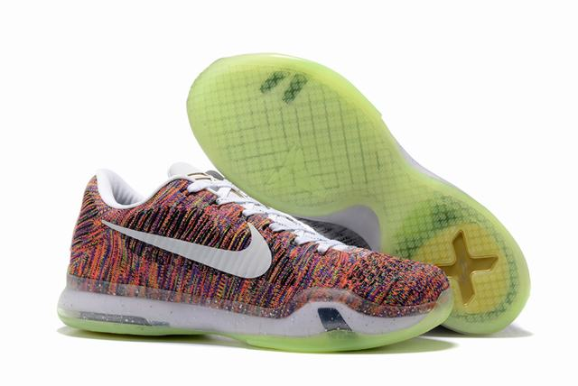 Kobe 10 Shoes Low Rainbow