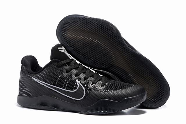 Kobe 11 Shoes Black Silver