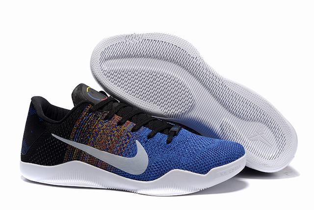 Kobe 11 Shoes Black White Blue