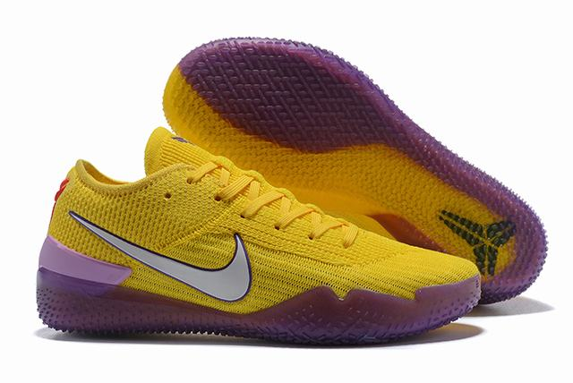 Nike Kobe 360 Shoes Lakers Yellow Purple
