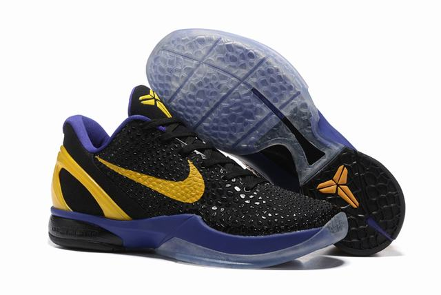 Kobe 6 Shoes Black Purple Yellow