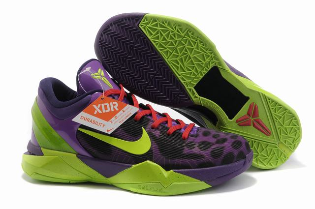 Kobe 7 Shoes Black Purple Green