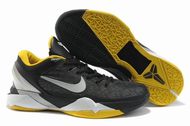 Kobe 7 Shoes Black Yellow