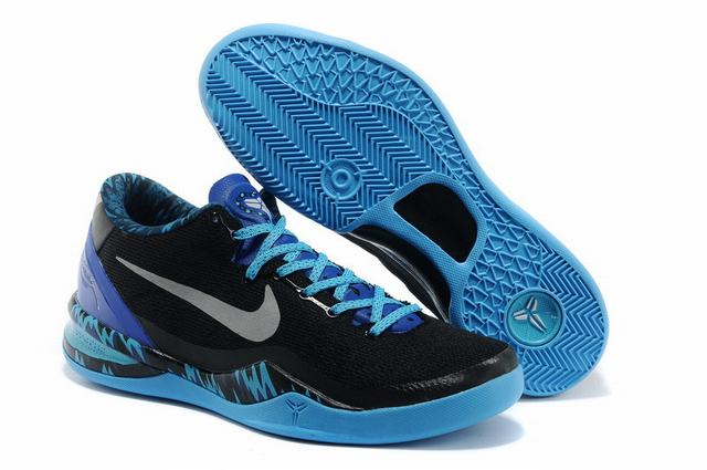 Kobe 8 Shoes Black Blue