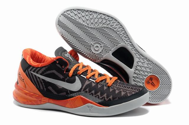 Kobe 8 Shoes Black Orange