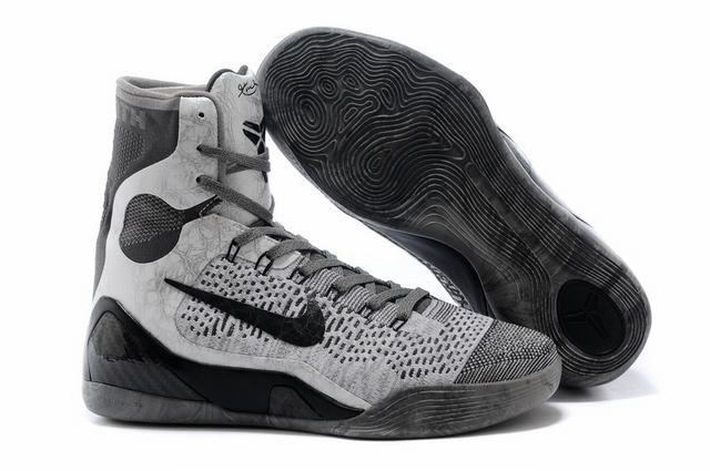 Kobe 9 Shoes Elite Grey Black