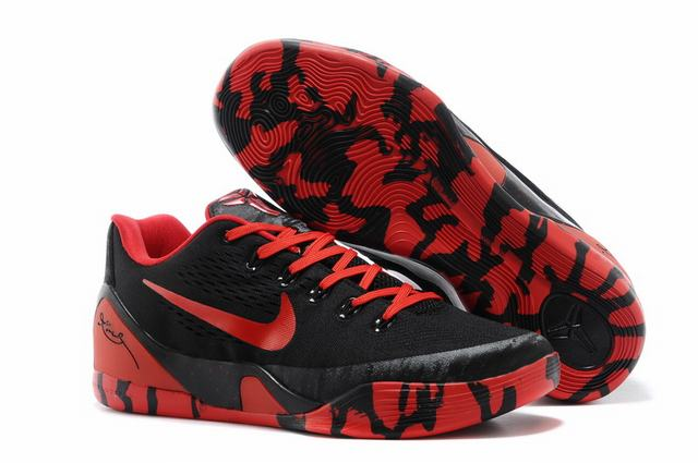 Kobe 9 Shoes Low Black Red