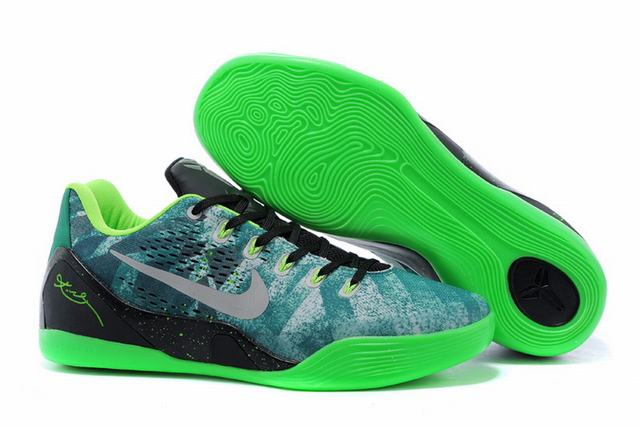 Kobe 9 Shoes Low Grass Green Black