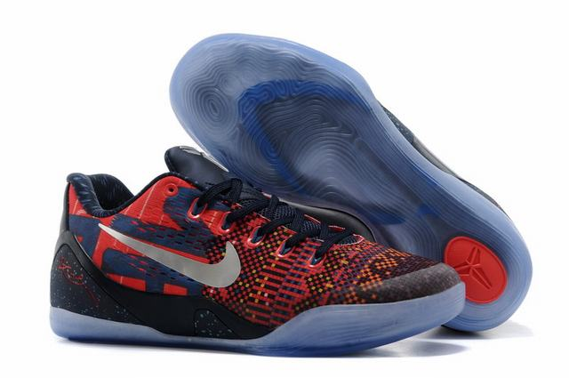 Kobe 9 Shoes Low Purple Blue Red