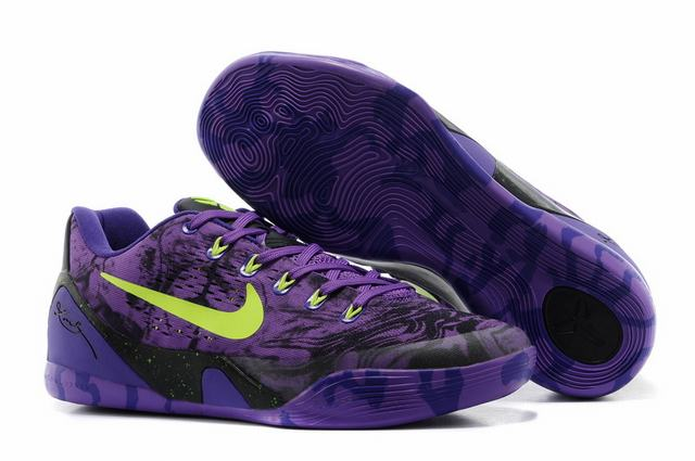 Kobe 9 Shoes Low Purple Green