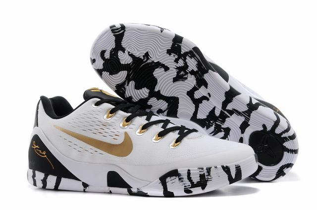 Kobe 9 Shoes Low White Gold