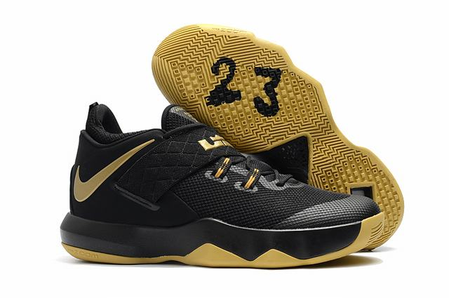 Nike Lebron James Ambassador 10 Shoes Black Gold