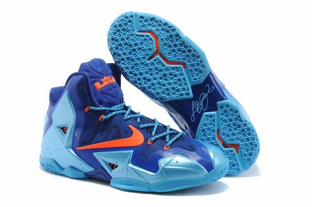 Nike Lebron James 11 Shoes 2012 Champion Royal Blue Orange