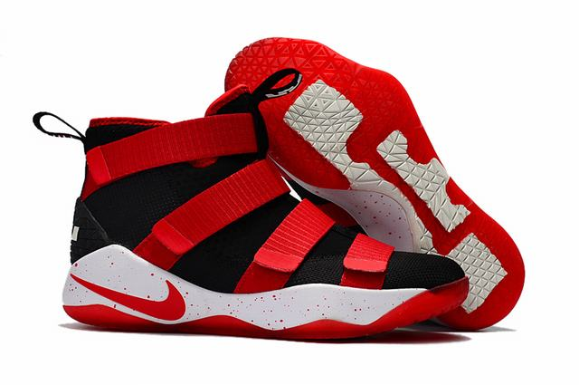 Nike Lebron James Soldier 11 Shoes Black Red White Red