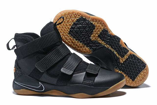 Nike Lebron James Soldier 11 Shoes Black Rubber