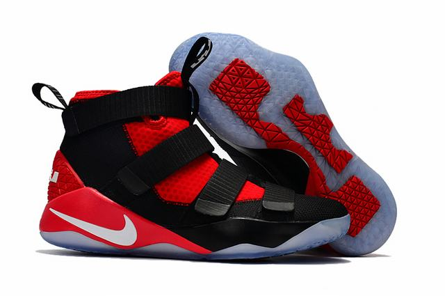 Nike Lebron James Soldier 11 Shoes Red Black White