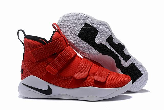 Nike Lebron James Soldier 11 Shoes Red White Black