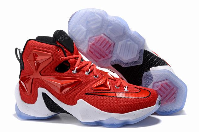 Nike Lebron James 13 Shoes Red Black White