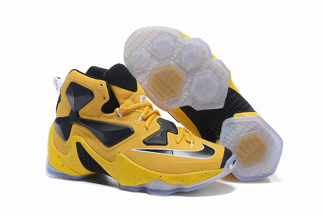 Nike Lebron James 13 Shoes Yellow Black
