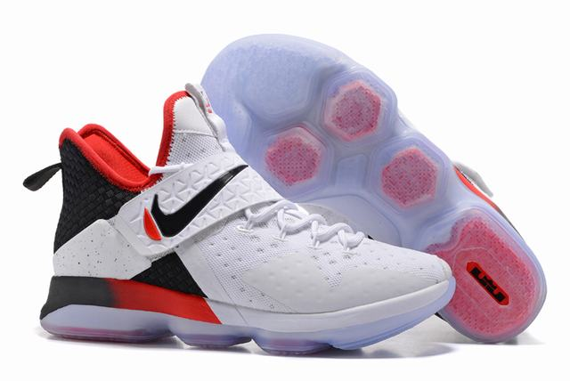 Nike Lebron James 14 Shoes Dream White Red Black