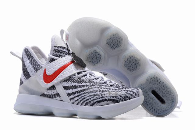 Nike Lebron James 14 Shoes White Zebra