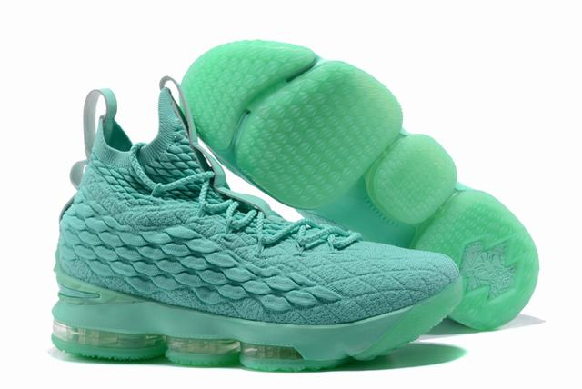 Nike Lebron James 15 Air Cushion Shoes All Mint Green